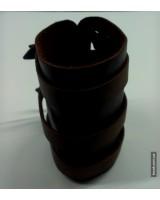 Браслет коричневый кожаный на трех ремешках