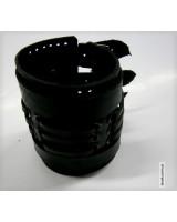 Браслет черный кожаный на трех ремешках